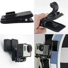 Fixed Backpack Rucksack Hat Clip Clamp Mount for GoPro Hero 2 3 3+ Camera Black