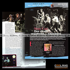 #jh026.04 ★ 1984 THE STRAY CATS ★ Fiche JOHNNY HALLYDAY