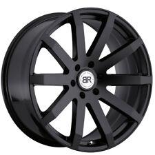 """24"""" BLACK RHINO TRAVERSE MATTE BLACK WHEELS RIMS 24x10 6x139.7 25et"""
