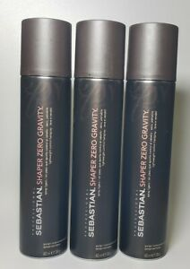 3 Sebastian Shaper Zero Gravity Lightweight Control Hairspray 13.5 oz. each