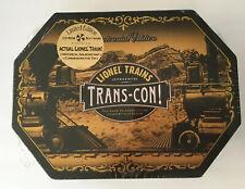 Lionel Trains Trans-Con (PC, 1999) LIMITED-EDITION COMMEMORATIVE TIN. It's cool