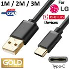 USB C CABLE for LG or OnePlus MOBILE CELL PHONE 3FT 6FT 10FT FAST CHARGER CORD