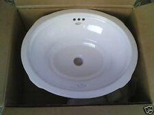 NIB Nice Bathroom Vanity Ceramic UNDER-MOUNT SINK
