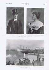 1901 Earl Countess Hope Toun Royal Yacht Ophir Portsmouth