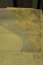 CARTINA GEOGRAFICA A COLORI - ALBANIA - SARANDE