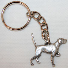 English Pointer Dog Fine Pewter Keychain Key Chain Ring