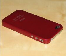 Red Hard Back Skin Case Cover For Apple iPhone 4