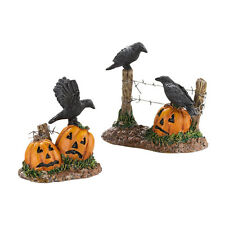 Dept 56 Halloween Ravens Accessory Set 4030786 NEW SVH Snow Village Halloween