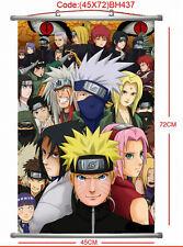 Naruto Sasuke Kakashi Anime Manga Wallscroll Stoffposter 45x72cm Neu