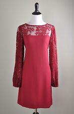 WHITE HOUSE BLACK MARKET NWT $150 Modern Lace Sleeve Party Shift Dress Size 2