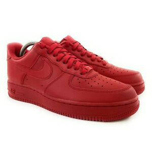 Nike Men's Air Force 1 '07 LV8 1 University Red Shoes CW6999-600 Size 8.5