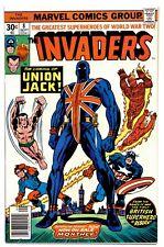1)INVADERS #8(9/76)1st UNION JACK(BARON BLOOD/CAPTAIN AMERICA)(CGC IT)NM+(9.6)!!