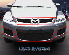 Black Billet Grille Combo Grill Insert For 2007 2008 2009 Mazda CX-7 CX7