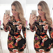 Unbranded Long Sleeve Mini Floral Dresses for Women