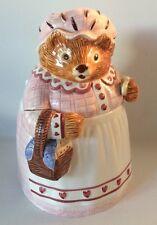 Vtg Sigma Tastesetter Beatrix Potter Mrs Tiggy Winkle Cookie Jar Excellent!