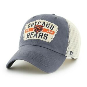 Chicago Bears Hat '47 NFL Football Blue White Mesh Snapback Vintage Trucker Cap