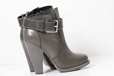 BARBARA BUI Studded Leather Buckle Stiletto Ankle Boots Size 40