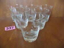 Rare Set 6 Various Fresh Water Fishing Cut Crystal Whisky Glasses / Tumblers
