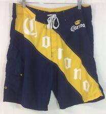 Corona Extra Men's Size 36 Navy Yellow Running Gym Board Swim Shorts