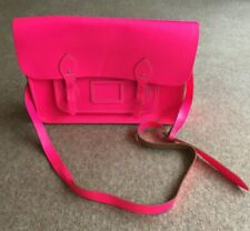 Luminous bright Pink satchel with long shoulder strap - this is BRIGHT!