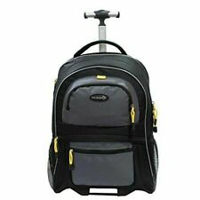 Rolling Laptop Bag Backpack Luggage With Computer Pocket Sierra Madre 19in BLK