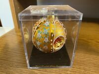 Michaels Hand Crafted Glass Bell Bejeweled Ornament Brand New in Plastic Case