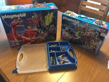 Playmobil Set Lot -Dragon 5840,knight  4133, carry case 4177, balista 5830