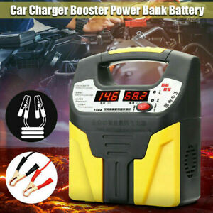12V-24V LCD Car Battery Charger Automatic Shutdown Safety Booster Pluse Durable