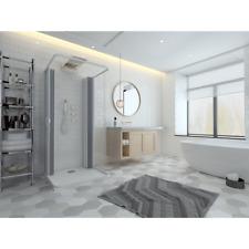 Box doccia cabina parete fissa tre lati 3 a soffietto in PVC riducibile