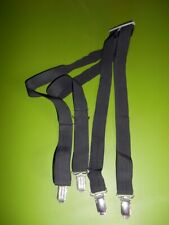 Vintage Skinny Black Clip On Adjustable Suspenders Braces Gatsby Steampunk