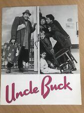 UNCLE BUCK (1989) Press Stills / Production Notes JOHN CANDY MACAULAY CULKIN