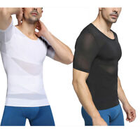 Men's Slim Compression Tummy Belly Body Shaper Tops Gynecomastia Chest Underwear