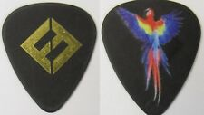 Pat Smear FOO FIGHTERS 2017 Tour guitar pick gold on BLACK with PARROT