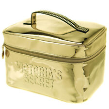 Victoria's Secret Gold Makeup Bag Weekender Train Cosmetic Case