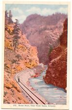 USA 1920, Rocky Point, Clear Creek, Canon Colorado, USA, colored, unused, TOP