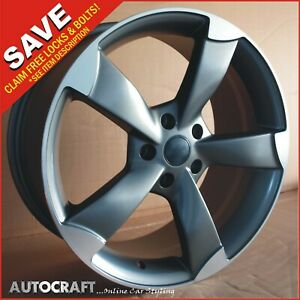 """18"""" ROTOR GM Style ALLOY WHEELS + TYRES Fits - AUDI A3 A4 A6 TT PCD: 5X112"""