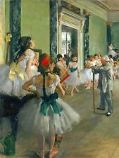 Edgar Degas Ballet Class Old Master Painting Reproduction Canvas Art Print