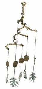 Brass Rustic Acorns & Leaves Resonant Relaxing Wind Chime Patio Garden Decor