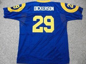 ERIC DICKERSON Unsigned Custom LA Blue Sewn New Football Jersey Sizes S-3XL
