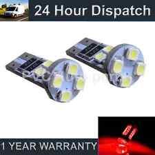 2x W5W T10 501 Errore Canbus libero ROSSO 8 LED DI CORTESIA LAMPADINE HID il101601