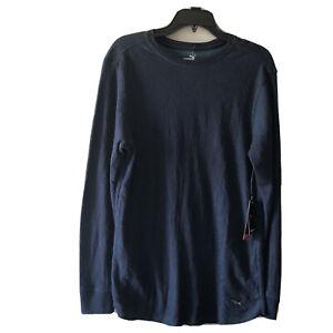 Puma T-shirt Mens Medium Long Sleeves Blue NWT