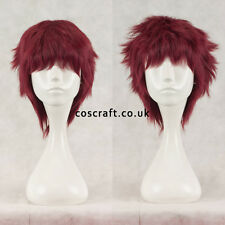 Short layered fluffy spikeable cosplay wig, mahogany red, UK seller, Jack style