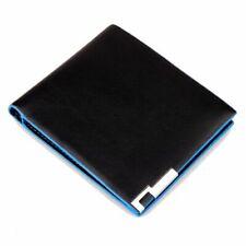 Blue Black Leather Stylish Men Wallet Business Card Holder Luxury Purse Wallets