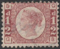 1870 SG48 1/2d ROSE RED PLATE 6 FINE MINT VERY LIGHTLY HINGED (GB)
