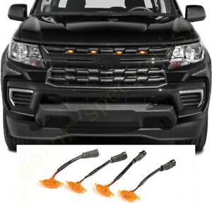 For Chevrolet Colorado 2021 Front Grille LED Light Raptor Grill Trim Cover 4PCS