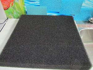 Filtermatte 500x500x50 mm schwarz PPI 60 Garnellensicher( 40,00 € m²)