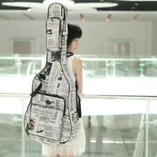 "Oxford Cloth Newspaper Style Double Straps Gig Bag Case for 40"" Folk Guitar H9O2"
