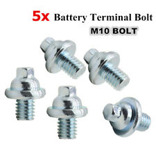 5PCS Heavy Duty Stainless Steel Battery Terminal M10 Bolt Battery Post Extender