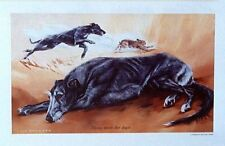 """Limited edition print - Lurcher- """"Those Were The Days"""" by the late Vic Granger"""