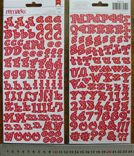 REMARKS Flat Letter Stickers RED - ISABEL WACKY 11-25High 10-25Wide 189 Items L2